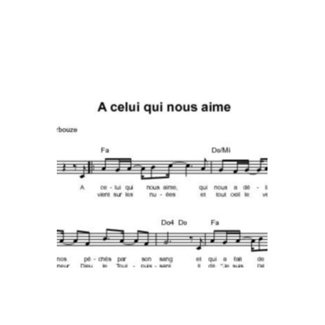 A celui qui nous aime - Elisabeth Bourbouze