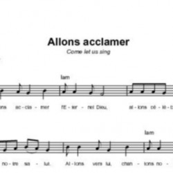 Allons acclamer - Chris Bowater