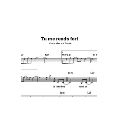 Tu me rends fort - Amanda Cook