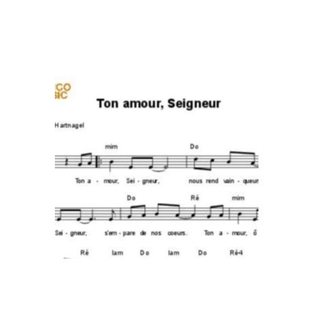 Ton amour, Seigneur - Jean-Hugues Hartnagel